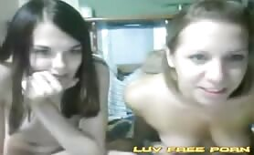 These cute lesbian girls playing on cam for me